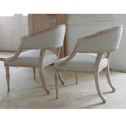 Pair Of Gustavian Period Chairs by Ephraim Stahl