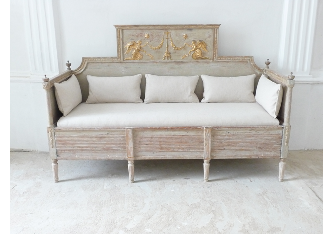 Important Gustavian Period Sofa Bench