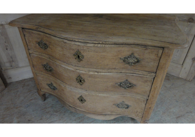 Belgian 18th Century Bleached Oak Commode