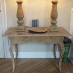 Rare Swedish Yellow Painted Rococo Table