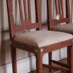 Pair of Red Painted Gustavian Period Chairs Made In Stockholm Around 1790