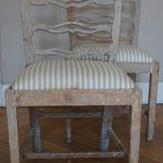 Pair of Swedish Painted Gustavian Period Chairs From About 1780
