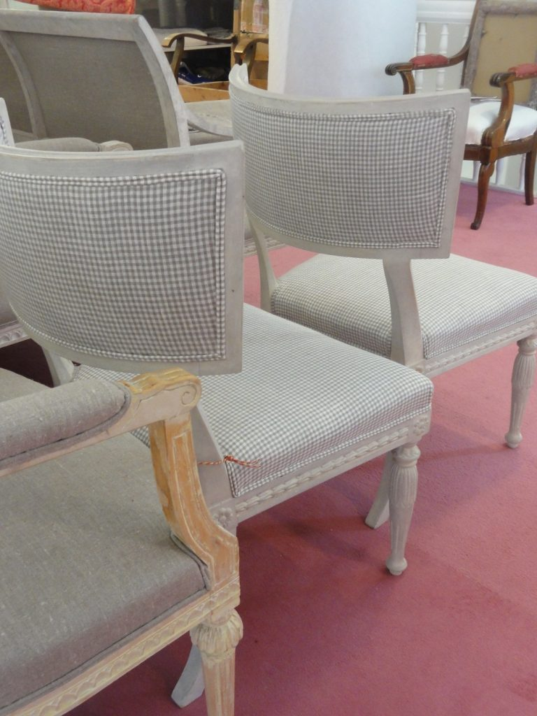 Gustavian Chairs With New Upholstery