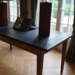 Antique Working Table / Kitchen Table With Custom Made Table Top