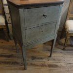French Painted Nightstand - Sidecommode 19th Century