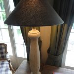 Single Antique Wodden Table Lamp