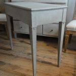 Grey Painted Gustavian Side Table