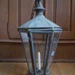 Single Antique Lantern. Hungary around 1900