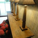 Pair of Table Lamps Made of 18th Century Beechwood