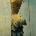 Single Table Lamp - 14th Century Carved Oak Angel Figure