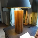 Pair of exclusive Table Lamps Made of Antique Reeded Columns