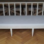 White Painted Gustavian Period Sofa Bench - Stockholm around 1780