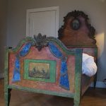 Painted Mountain Charlet Bed. Austria Mid 19th Century