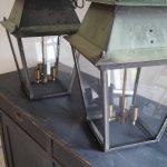 Pair of Antique Copper Lanterns