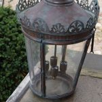 Large Antique Copper Hall Lantern - Italy 19th Century