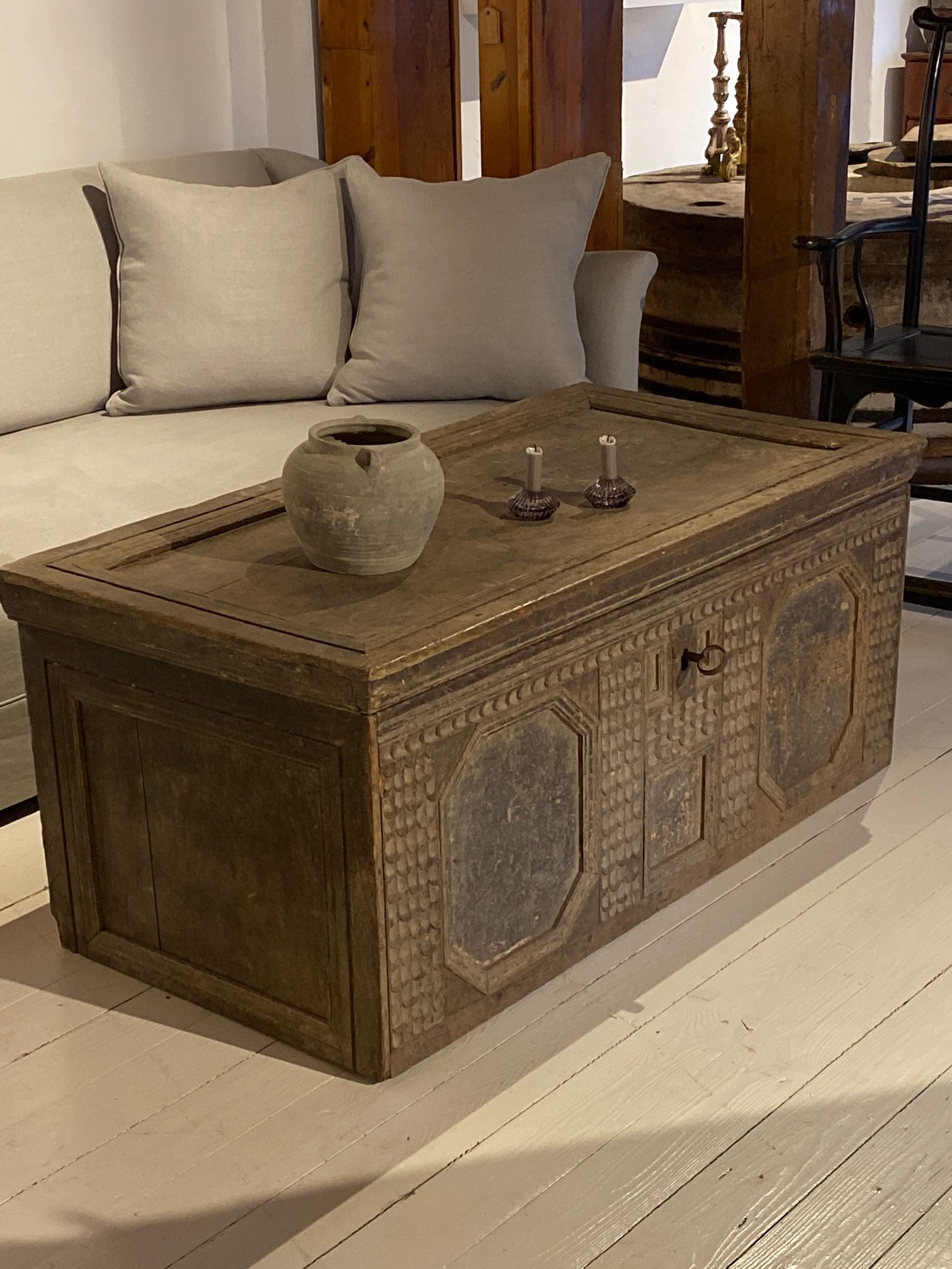 17th Century German Oak Chest - Console or Sofatable