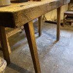 Dutch 19th Century Oak Kitchen Table.