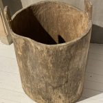 Large Wabi-Sabi Planter. Hollowed Out Tree Trunk. Hungary 19th Century