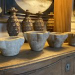 Set of 4 French Hand Carved Mortars. 17th Century