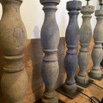 Antique Oak Table Lamps. Oak Columns from 1684 Germany