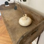 Antique Console Board on Iron Stand