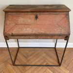 18th Century Red Painted Writing Desk on Iron Stand