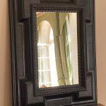 Antique Flemish Ebonized Mirror - Belgium 19th Century