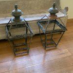 Pair of Antique Large Copper Lanterns