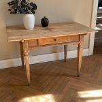 Louis Seize Table in bleached Oak   - Origin: Castle Freudental Allensbach. Germany Around 1780