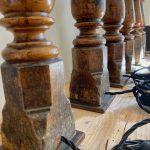 Antique Oak Table Lamps