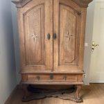 Swedish Oak Baroque Cabinet - Stralsund Around 1760