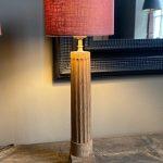 Pair of Bleached Oak Table Lamps - Historic Oak Coloums