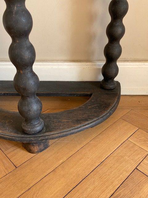 18th Century Oak Demi Lune Table